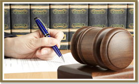 Signing Papers and Gavel